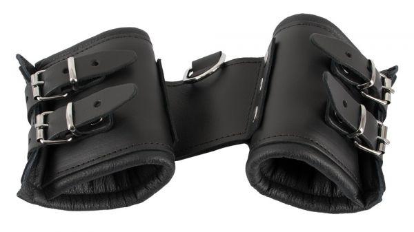 Handfesseln aus Leder (extra breit & stabil)