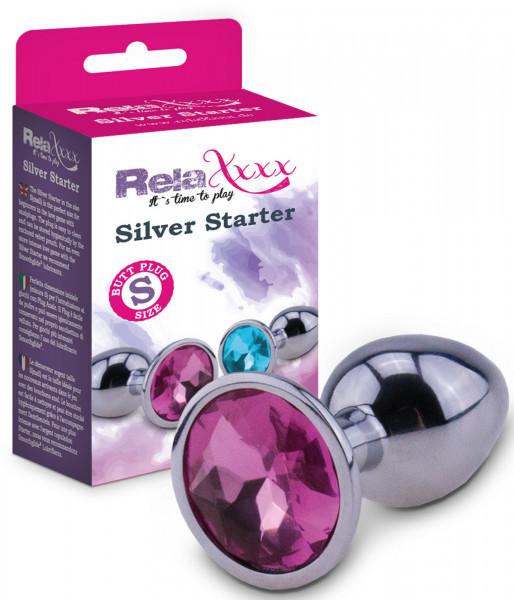 RelaXxxx Silver Starter Analplug (pink, Größe S)