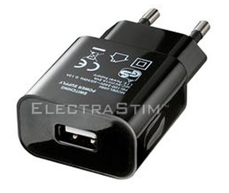 ElectraStim Flick USB Charge Adapter (Euro)
