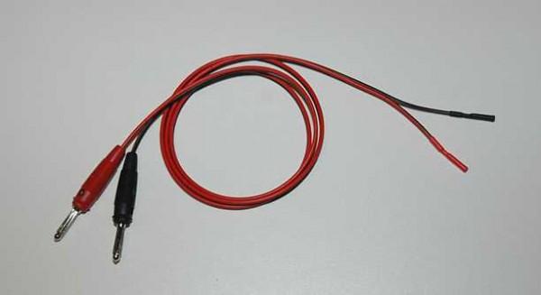 Verlängerung 2 mm Buchse - 4 mm Stecker