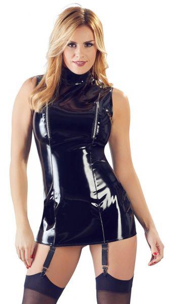 Strapskleid aus Lack (Vorderansicht)