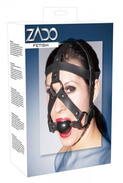 Leder-Kopfgeschirr mit Mundknebel