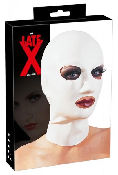 Latex-Kopfmaske (weiß)