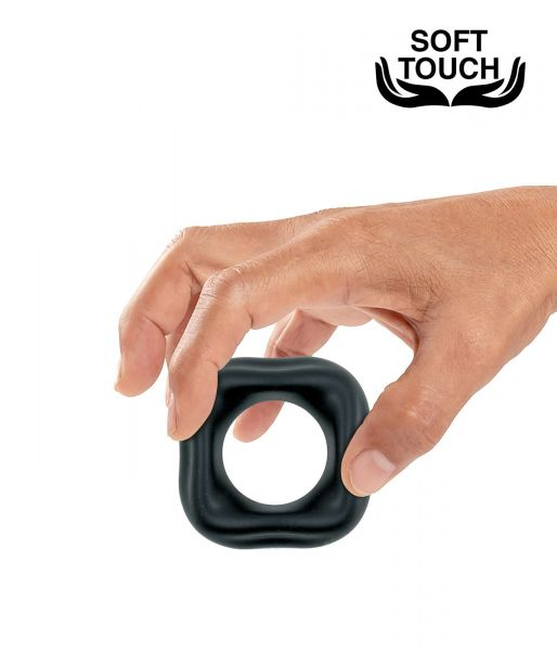 Mr. Cock Square Silicone Cockring (aus Soft Touch Silikon)