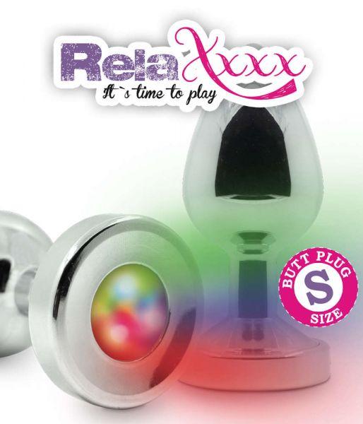 RelaXxxx Silver Starter Analplug Flashlight S (bringt deinen Hintern zum Leuchten)