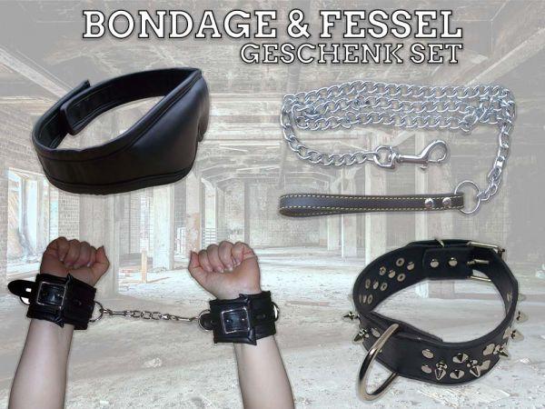 Bondage & Fessel Geschenk-Set (Set aus vier hochwertigen Bondage-Toys)