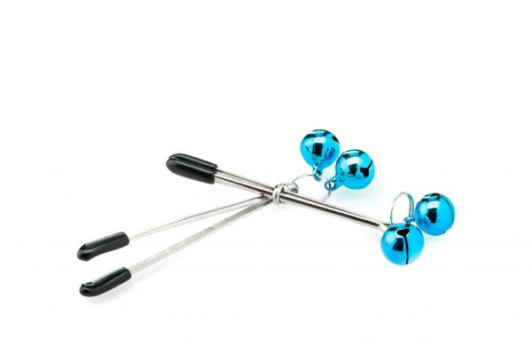 ZENN Tweezer Nipple Clamps Blue Bell (im Millimeterbereich verstellbar)