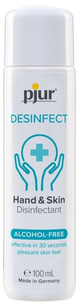 """Pjur """"Desinfect"""" Desinfektionsmittel 100ml (wirksam in 30 Sekunden, ohne zu kleben)"""