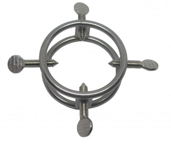 Metall Hodenring mit Spikes für Hodenfolter